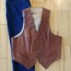Vtg Frye Women's Leather Vest
